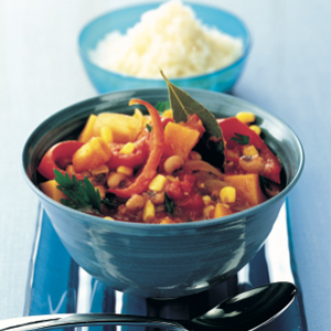 Butternut pumpkin and corn stew