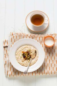 Oatmeal Porridge with Dried Fruit Compote