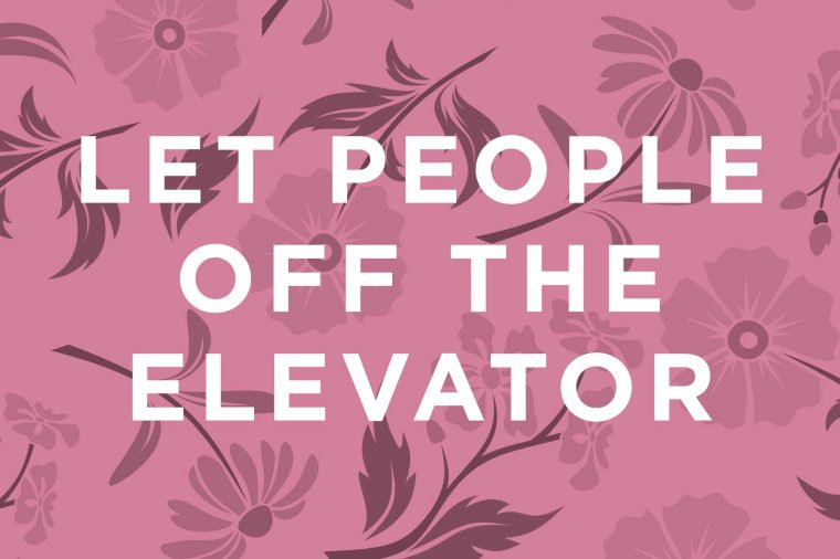 How to behave in an elevator: