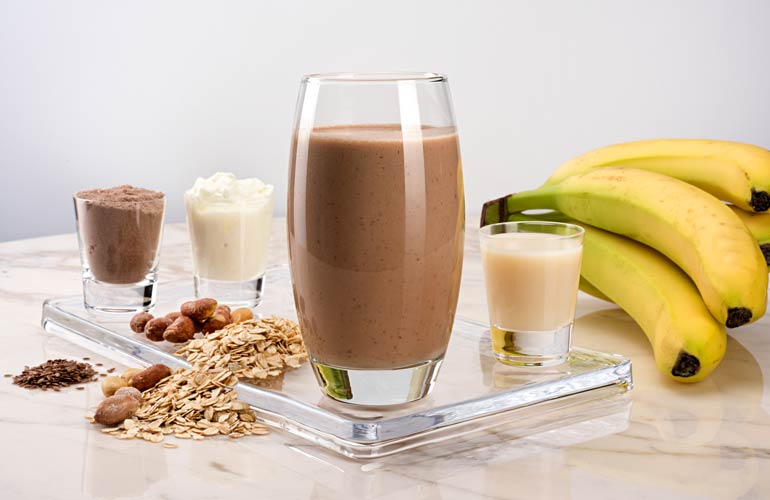 18. Add in a protein shake