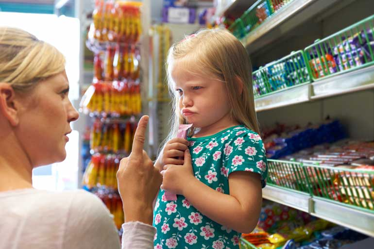Your kid throws a tantrum in the checkout line