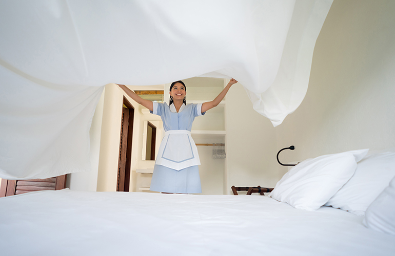 Give the housekeepers time
