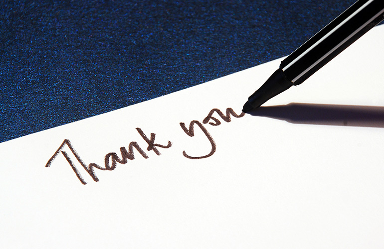 New Year Resolution Idea #4: Write a thank-you card to someone from your past