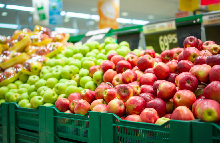 Supermarket apples can be a year old