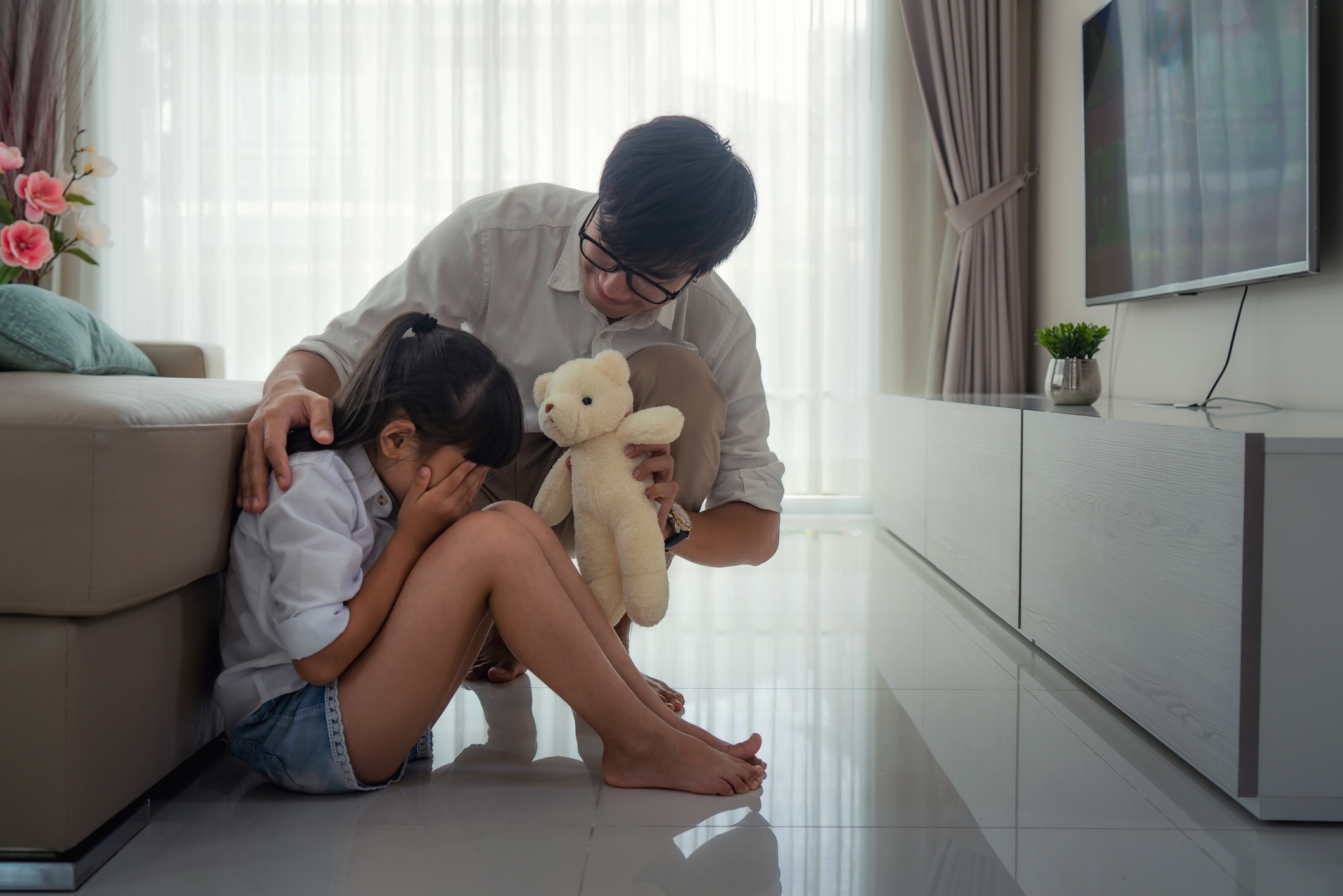 Your child doesn't want to be comforted