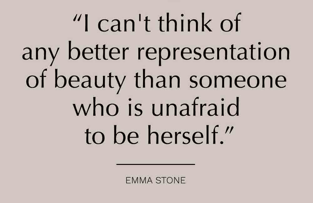 Being yourself is beautiful