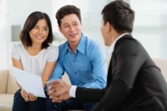 financial planning meeting with Asian couple