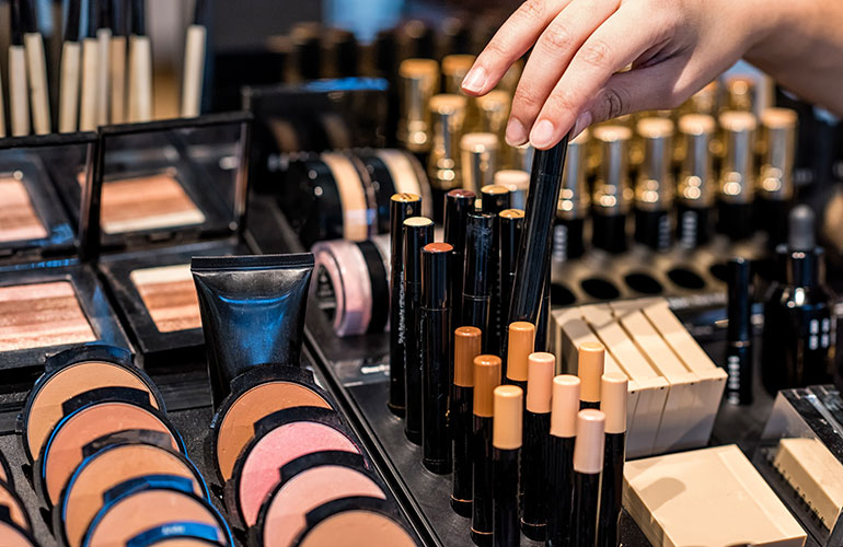 The main difference between designer cosmetics and their pharmacy or supermarket counterparts?
