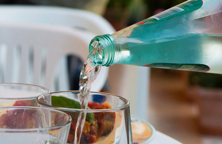 Try mineral water