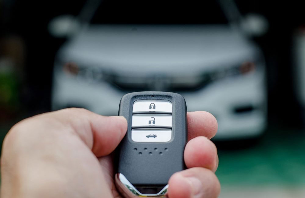 Use the fob to unlock your car